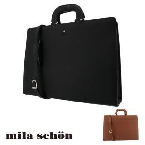 ミラショーン ブリーフケース メンズ ネロ 197518 Mila Schon ビジネスバッグ 本革 レザー [PO10] richard