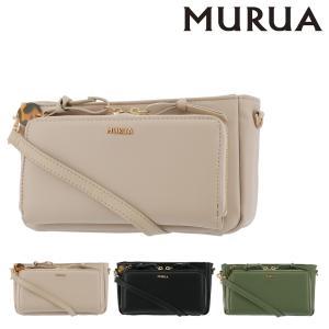 ムルーア 長財布 ダブルジッパー レディース MR-B763 MURUA | ウォレットショルダー お財布ポシェット|richard