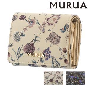 ムルーア 財布 ミニ財布 フラワー レディース MR-W782 MURUA | 花柄 ガマ口 ブランド専用BOX付き|richard