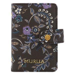 ムルーア カードケース フラワー レディース MR-W783 MURUA | 花柄 ブランド専用BOX付き|richard
