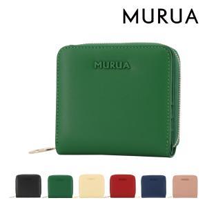 ムルーア 二つ折り財布 ラウンドファスナー シンプル レディース MR-W813 MURUA|richard