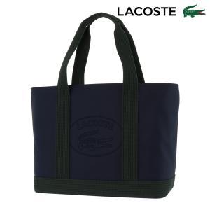 便利でエレガントかつスポーティなジッパー式トートバッグ。象徴的なラコステロゴとコットン素材の持ち手付...