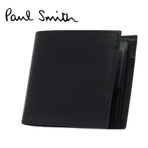 最大1000円OFFクーポン ポールスミス Paul smith 二つ折り財布 ASXC 4833 W718P BLACK ブラック ミニクーパープリント  財布 メンズ richard
