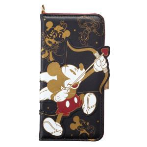 ミッキーマウス Mickey Mouse iPhoneX ケース ダイカット ミッキー&フレンズ iP8-DN01 アイフォン スマホケース ディズニー 手帳型 カード収納 ミラー付 [PO10]|richard