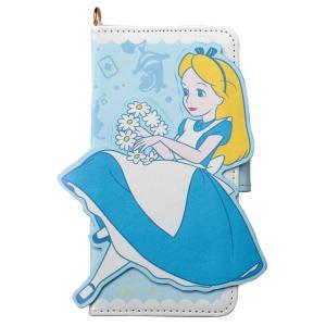 不思議の国のアリス Alice in Wonderland iPhoneX ケース ダイカット アリス iP8-DN02 アイフォン スマホケース ディズニー 手帳型 カード収納 ミラー付 [PO10]|richard