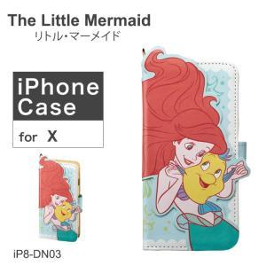 リトル・マーメイド The Little Mermaid iPhoneX ケース ダイカット アリエル iP8-DN03 アイフォン スマホケース ディズニー 手帳型 カード収納 ミラー付 [PO10]|richard