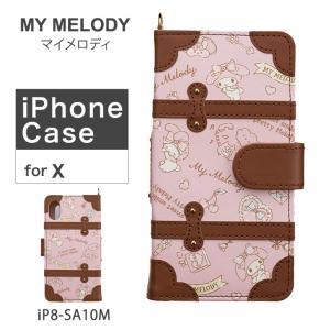 マイメロディ My Melody iPhoneケース iP8-SA10M iPhoneX ケース 手帳型 サンリオ レディース [PO10]|richard