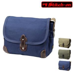 ステッチオン ショルダーバッグ 帆布シリーズ メンズ 52203 日本製 Stitch-on   斜めがけ 豊岡 10号帆布 [PO10] richard