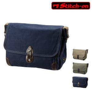 ステッチオン ショルダーバッグ 帆布シリーズ メンズ 52204 日本製 Stitch-on   斜めがけ 豊岡 10号帆布 [PO10] richard