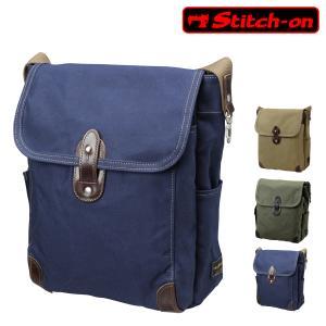 ステッチオン ショルダーバッグ 帆布シリーズ メンズ 52206 日本製 Stitch-on | 斜めがけ 豊岡 10号帆布 [PO10]|richard