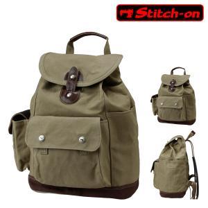 ステッチオン リュック 帆布シリーズ メンズ 52211 日本製 Stitch-on   リュックサック バックパック 豊岡 10号帆布 [PO10] richard