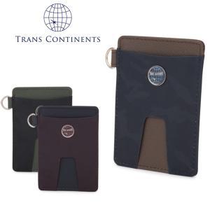 トランスコンチネンツ TRANS CONTINENTS パスケース TC-105016  カモシリーズ 定期入れ カードケース メンズ レザー  [PO5]|richard