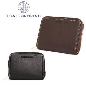 トランスコンチネンツ TRANS CONTINENTS 小銭入れ TC-206016  オイルソフトシリーズ コインケース ラウンドファスナー BOX式 メンズ レザー [PO5]|richard