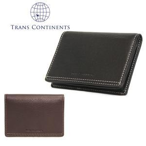 トランスコンチネンツ TRANS CONTINENTS 名刺入れ TC-207016  オイルソフトシリーズ カードケース メンズ レザー 通しマチ [PO5]|richard