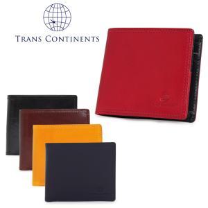 トランスコンチネンツ TRANS CONTINENTS 二つ折り財布 TC-311016  イタリーレザーシリーズ 札入れ BOX式 メンズ レザー [PO5]|richard
