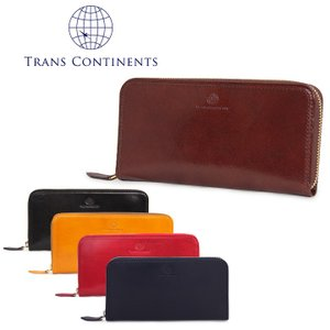 トランスコンチネンツ TRANS CONTINENTS 長財布 TC-315016  イタリーレザーシリーズ ラウンドファスナー 札入れ メンズ レザー [PO5]|richard