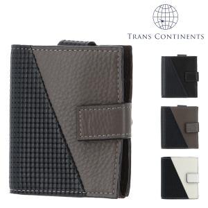トランスコンチネンツ 二つ折り財布 ミニ財布 ジェットセッター メンズ  TC-6085119 TRANS CONTINENTS | ブランド専用BOX 本革 レザー 撥水|richard