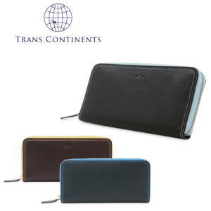 トランスコンチネンツ TRANS CONTINENTS 長財布 tc515016  ラウンドファスナー 財布 メンズ レディース レザー [PO5]|richard