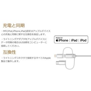iPhoneケーブル Androidケーブル Type-C 変換 3in1 ケーブル 1.2m Apple 認証 MFi 急速 充電 データ転送 ケーブル 送料無料 PHILIPS ブランド|richgo-japan|03