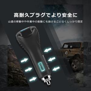 シガー ソケット カー チャージャー 3連 分配器 iPhone Android 急速充電 USB 2.1A 電圧測定 機能 搭載 12V 24V 車対応 送料無料 PHILIPS ブランド|richgo-japan|07