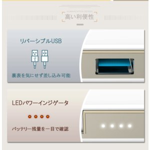 モバイルバッテリー 6000mAh iPhone充電ケーブル 本体充電ケーブル 内蔵モデル 安心 安全 送料無料 PHILIPS ブランド|richgo-japan|05
