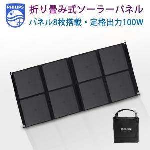 フィリップス ソーラーチャージャー ソーラーパネル 100W 停電対策 DLP8088C ポータブル電源専用 NC-1901PP richgo-japan