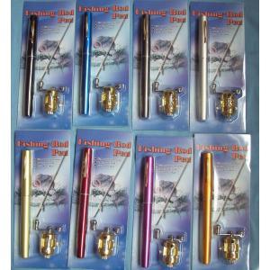 携帯時はペン型約20.5cmが、伸ばすと約96cmのつり竿に!ペン型携帯釣竿 コンパクトロッド 6色選択可能[夏のレジャー][つり][便利][アイデア]|richgroupled