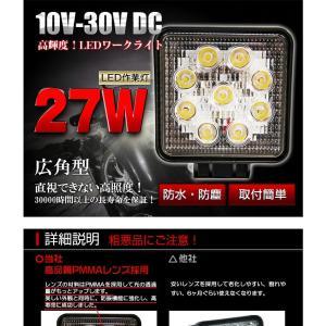 27W 9発照明LED作業灯 12/24V船舶/トラック/作業車対応/広角 明るさ抜群 防水防塵|richgroupled|02