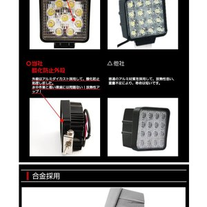 27W 9発照明LED作業灯 12/24V船舶/トラック/作業車対応/広角 明るさ抜群 防水防塵|richgroupled|03