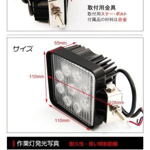 27W 9発照明LED作業灯 12/24V船舶/トラック/作業車対応/広角 明るさ抜群 防水防塵|richgroupled|06