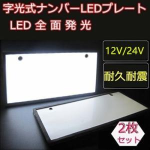 字光式 LED ナンバープレート 電光式 ナンバー 全面発光 12V 24V兼用 2枚/セット richgroupled
