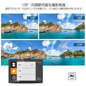 Dragon Touch アクションカメラ 4K高画質 1600万画素 ウェアラブルカメラ WIFI搭載 2インチ液晶画面 100ft防水カ|richies-shop