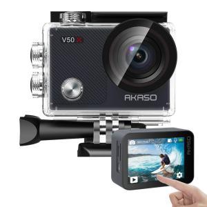 AKASO アクションカメラ 2インチタッチスクリーン 超高画質 4K/30fps WiFi搭載 EIS手ぶれ補正 外部マイ部対応 170度|richies-shop