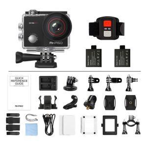AKASO アクションカメラ 4K高画質 16MP画素 170度広角レンズ 手ぶれ補正 WIFI搭載 2インチ液晶画面 タッチスクリーン 視|richies-shop
