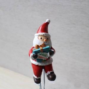 ミニチュアフレンチオーナメント/ギフトフォーユーサンタピックM/雪・メリークリスマス・ホーリーナイト・置物・インテリア小物|richild