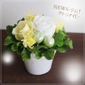 【送料無料】期間限定!ぎっしりお花が入った母の日のプリザーブドフラワーアレンジグリーンアイビー|プリザード|richild