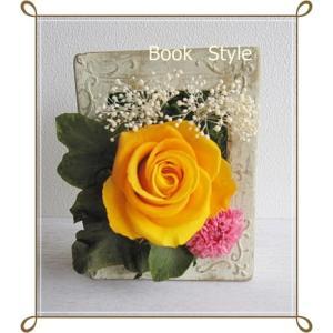 送料無料|期間限定!バラの花が入った母の日のプリザーブドフラワーフレームアレンジ|ブックスタイル|ミニダリア入り|プリザード|richild