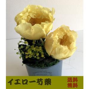 【送料無料】黄芍薬のアイスフラワー【しゃくやく・シャクヤク】【和風・お供え・お盆・供養・法事・法要】|richild