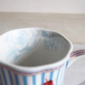 【ギフト包装対応】リスベスダール マグカップ ストライピー/Lisbeth Dahl【ブルー・ストライプ・てんとう虫・コーヒーカップ・洋食器・陶器】|richild|02