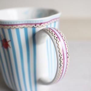 【ギフト包装対応】リスベスダール マグカップ ストライピー/Lisbeth Dahl【ブルー・ストライプ・てんとう虫・コーヒーカップ・洋食器・陶器】|richild|03