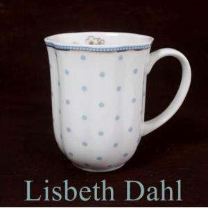 【3営業日以内に発送】【ギフト包装対応】リスベスダール マグカップ ミント/Lisbeth Dahl【ドット・水玉・花・桜・ヨーロピアン・洋食器・陶器】|richild