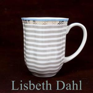 【3営業日以内に発送】【ギフト包装対応】リスベスダール マグカップ ビーチ/Lisbeth Dahl【ストライプ・ハート・ヨーロピアン・洋食器・陶器】|richild