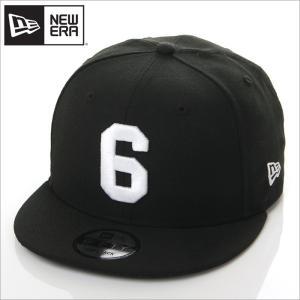 NEW ERA キャップ メンズ レディース ニューエラ スナップバック キャップ 数字 ナンバー 帽子 950 NUMBER CUSTOM 6 スナップバックキャップ ブラック 黒|richrush