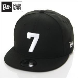 NEW ERA キャップ メンズ レディース ニューエラ スナップバック キャップ 数字 ナンバー 帽子 950 NUMBER CUSTOM 7 スナップバックキャップ ブラック 黒|richrush