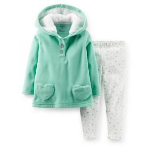 Carter's カーターズ ガールズ ハート&スター 2点セット カバーオール パンツ ボディスーツ カバーオール 女の子 ベビー服|richsmile
