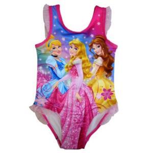 子供 水着 女の子 ワンピース Disney プリンセス 袖フリル インポート ピンク ディズニー プリンセス ビキニ |richsmile