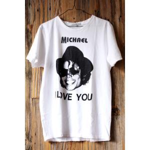 ジャンクフード マイケル・ジャクソン I LOVE YOU Tシャツ ホワイト JUNKFOOD Michael Jackson  メンズ レディース MJ アイ ラブ マイケル|richsmile