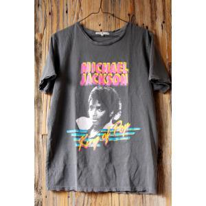 ジャンクフード マイケル・ジャクソン King Of Pop Tシャツ チャコール JUNKFOOD Michael Jackson  メンズ レディース MJ キングオブポップ|richsmile