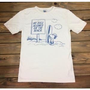 ジャンクフード スヌーピー サーフボード Tシャツ アイボリー JUNKFOOD PEANUTS メンズ レディース|richsmile