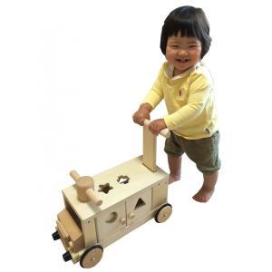 木製 手押し車 乗用玩具 きこりのおもちゃ つみきバス 木のおもちゃ 送料無料|richsmile|02